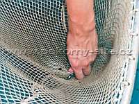 Triangular fry dip net